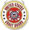 Amia 7343 Coast Guard Medium Circle Suncatcher