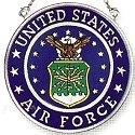 Amia 7346 Air Force Small Circle Suncatcher