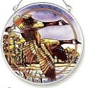 Amia 7392 Alaska Wolf Pack Medium Circle Suncatcher