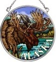 Amia 7394 Moose Small Circle Suncatcher