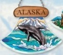 Amia 7411 Alaska Whale Ulu Shaped Suncatcher