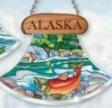 Amia 7429 Alaska Salmon Ulu Shaped Suncatcher
