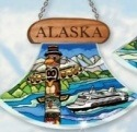 Amia 7441 Alaska Totem Ulu Shaped Suncatcher
