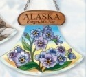 Amia 7449 Alaska Forget Me Nots Ulu Shaped Suncatcher