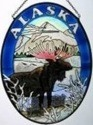 Amia 7459 Alaska Moose Medium Oval Suncatcher