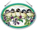 Amia 7571 Blackberry Chicks Medium Oval Suncatcher