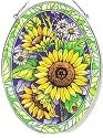 Amia 7604i Sunny Composition Large Oval Suncatcher