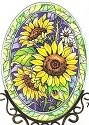 Amia 7605 Sunny Composition Medium Oval Suncatcher