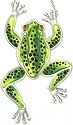 Amia 7700 Black Green Frog Frog Shaped Suncatcher