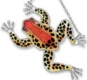 Amia 7712i Red Back Poison Dart Frog Frog Shaped Suncatcher
