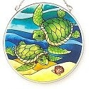 Amia 7736 Turtle Friend Medium Circle Suncatcher