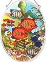 Amia 7742 Tropical Fish Medium Oval Suncatcher