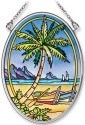 Amia 7765 Tropical Palm Small Oval Suncatcher