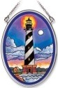Amia 7798 Cape Hatteras At Night Small Oval Suncatcher