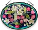 Amia 7808 Cherries Medium Oval Suncatcher