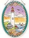 Amia 7845 Cape May Medium Oval Suncatcher