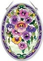 Amia 7917 Pansy Medium Oval Suncatcher