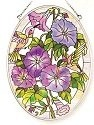 Amia 7983 Morning Glories Medium Oval Suncatcher