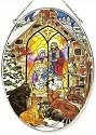 Amia 8015 Christmas Gathering Large Oval Suncatcher