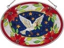 Amia 8059 Dove Medium Oval Suncatcher