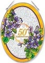Amia 8379 50th Anniversary Large Oval Suncatcher