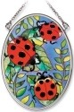 Amia 8388 Lady Bug Small Oval Suncatcher