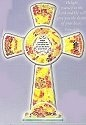 Amia 8763 Gold & Rust Inspirational Cross