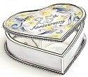 Amia 8928 25th Anniversary Heart Shaped Jewelry Box