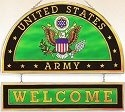 Amia 9354 Army Beveled Glass Welcome Panel