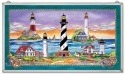 Amia 9768 East Coast Lighthouse Glass Panel