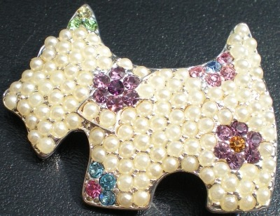 Jewelry - Fashion CB4474 Scottie Pin Brooch