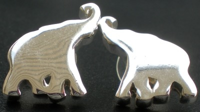 Jewelry - Fashion EARElephantSilver1 Elephant Pierced Earrings
