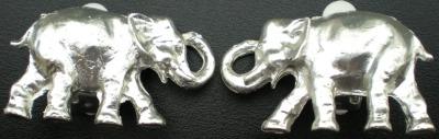 Jewelry - Fashion EARElephantSilver2 Elephant Clip Earrings