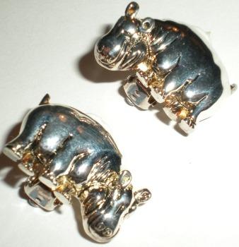 Jewelry - Fashion EARHippoSilver2 Hippo Earrings