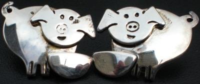Jewelry - Fashion EARPigSilver2 Pig Pierced Earrings