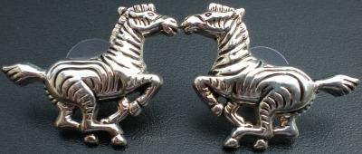 Jewelry - Fashion EARZebraSilver1 Zebra Pierced Earrings