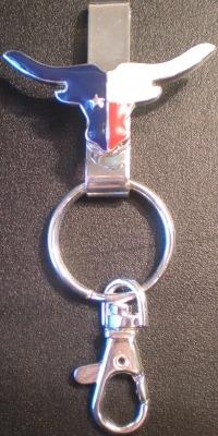 Jewelry - Fashion KEYTexasSilver2 Texas Longhorn Flag Key Finder