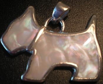Jewelry - Fashion PENDANTScottieSilver2 Scottie Mother of Pearl & Silvertone Pendant