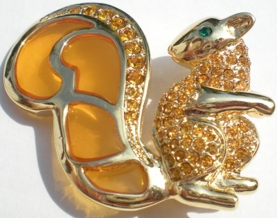 Jewelry - Fashion PINSquirrelGold1 Squirrel Pin Brooch