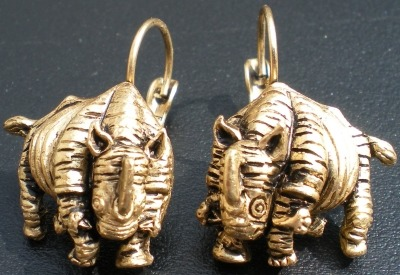 Jewelry - Fashion YT164 Rhino Pierced Earrings