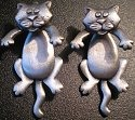 Jewelry - Fashion EARCatPewter Cats Dangling Earrings