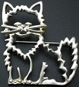 Jewelry - Fashion PINCatOutline Cat Outline Pin Brooch