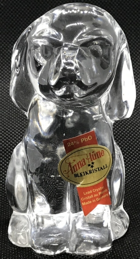 Estate Items Dog Anna Hutte Dog Clear Glass