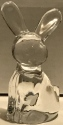 Estate Items Rabbit Anna Hutte Bunny Rabbit Clear Glass