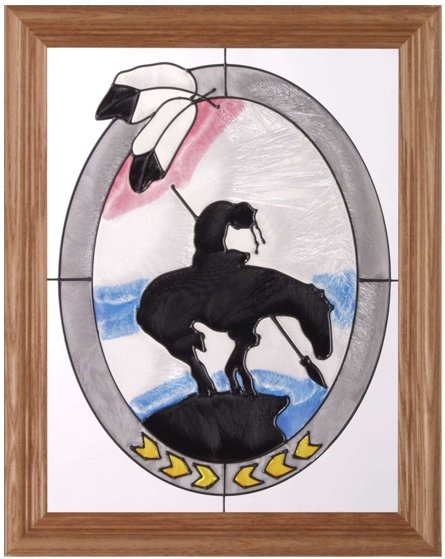 Artistic Gifts Art Glass B025 Trail's End Vertical Panel