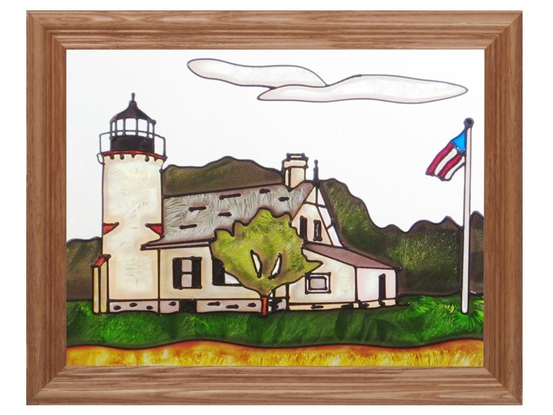Artistic Gifts Art Glass B254 MI McGulpin Point Panel