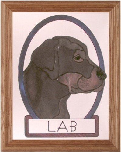 Artistic Gifts Art Glass BW131C Labrador Retriever I Chocolate Panel Glass Made in the USA $55.99