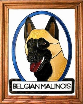 Artistic Gifts Art Glass BW263 Belgian Mallinois Vertical Panel Glass Made in the USA $55.99
