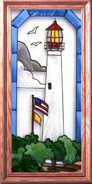Artistic Gifts Art Glass C081 Cape May NJ Vertical Panel
