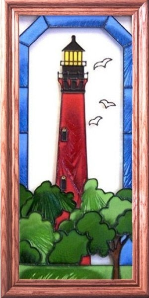Artistic Gifts Art Glass C088 Currituck Beach NC Vertical Panel